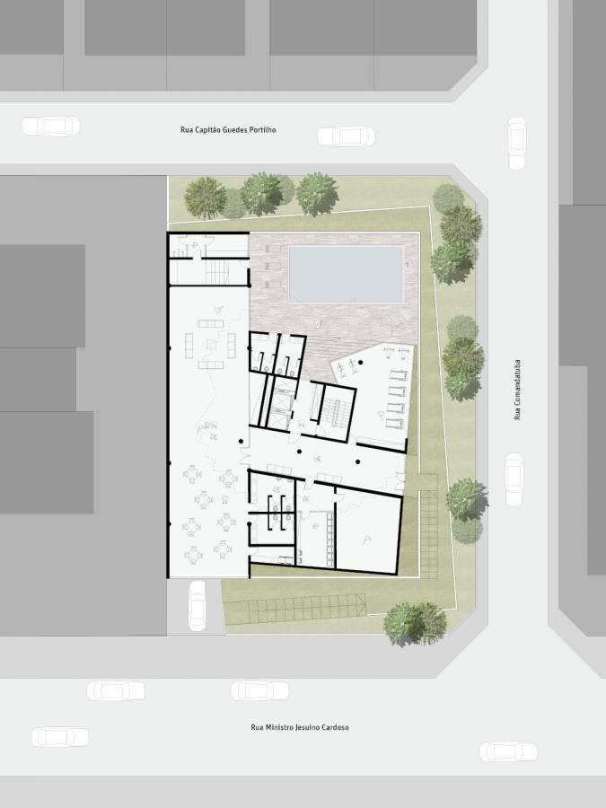GROUND FLOOR PLAN - Itaim Tower - SPOL Architects