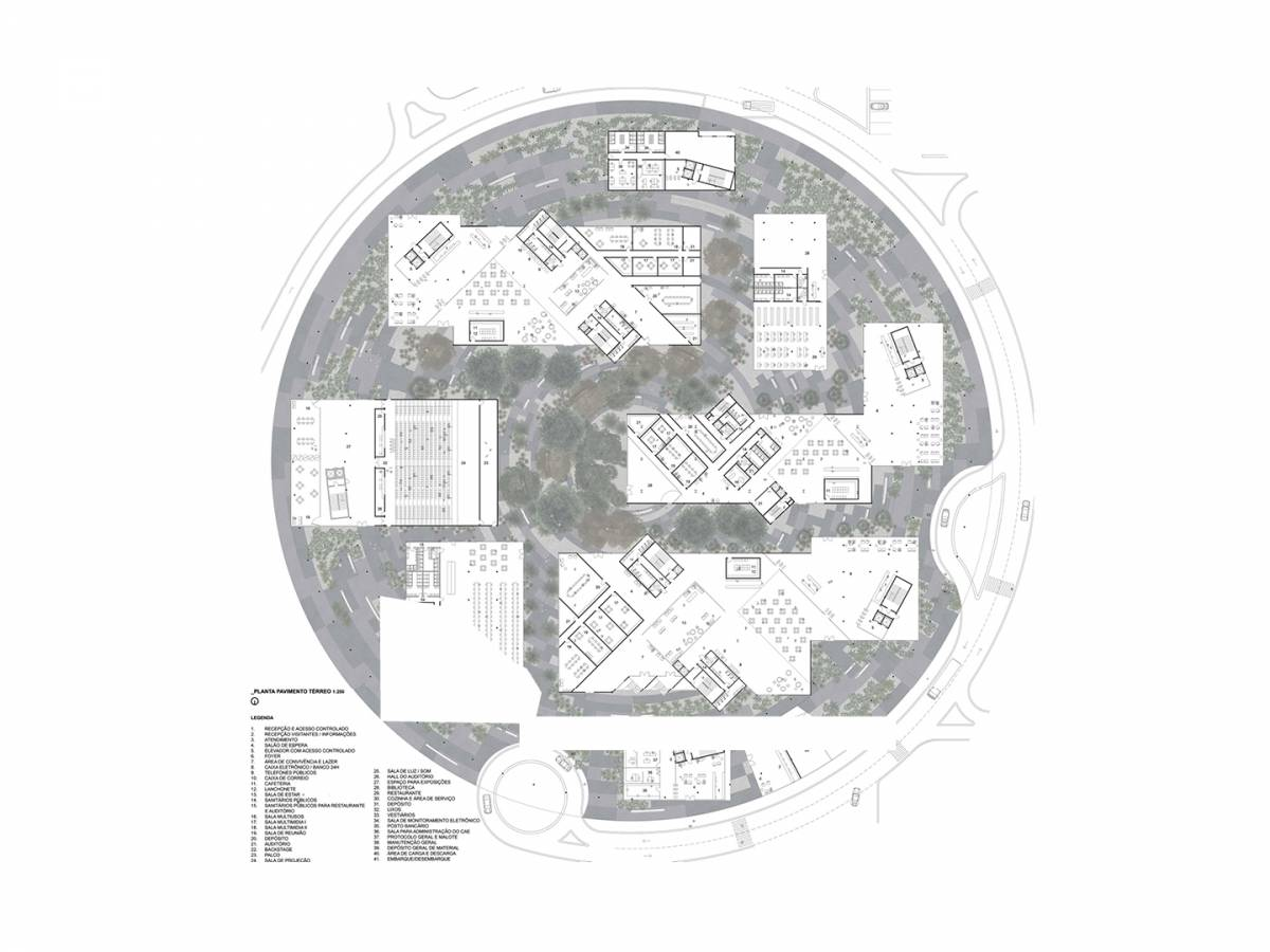 PLAZA LEVEL PLAN - Maranhão - SPOL Architects