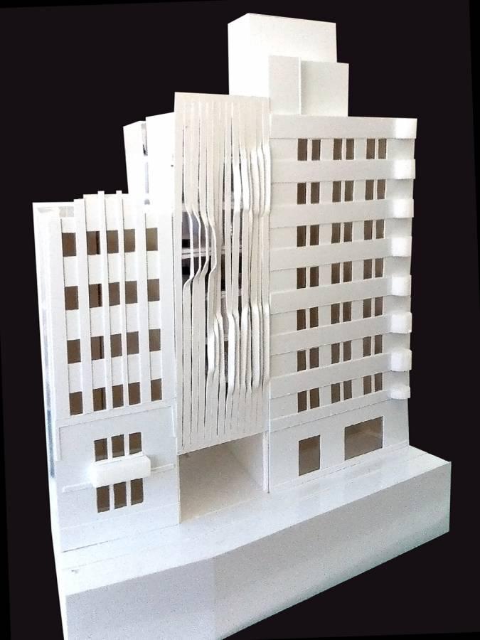FACADE MODEL - Salvador Lofts - SPOL Architects