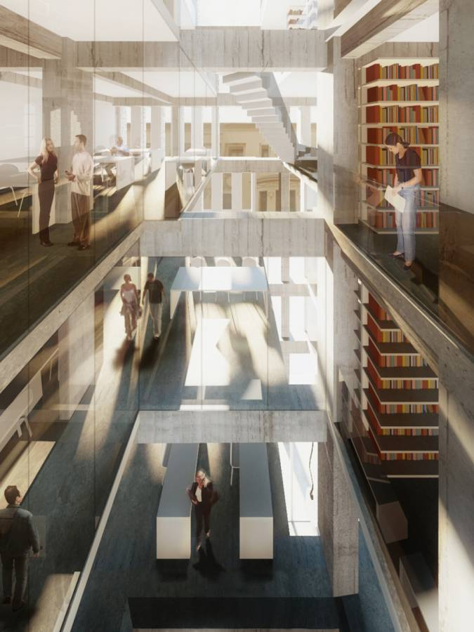 VERTICAL LIBRARY SPACE - São Francisco Library - SPOL Architects
