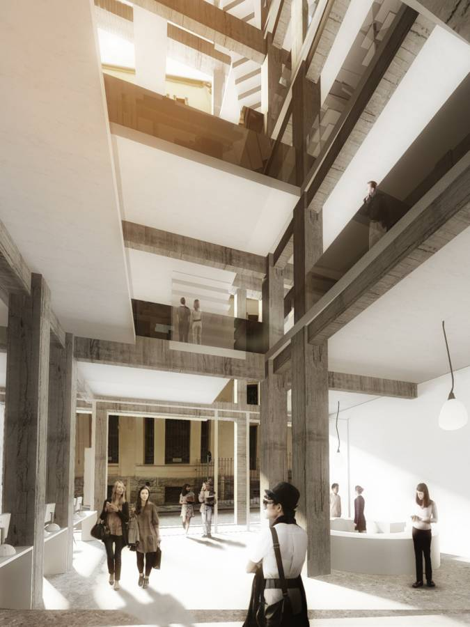 VERTICAL SPACE FROM GROUND - São Francisco Library - SPOL Architects
