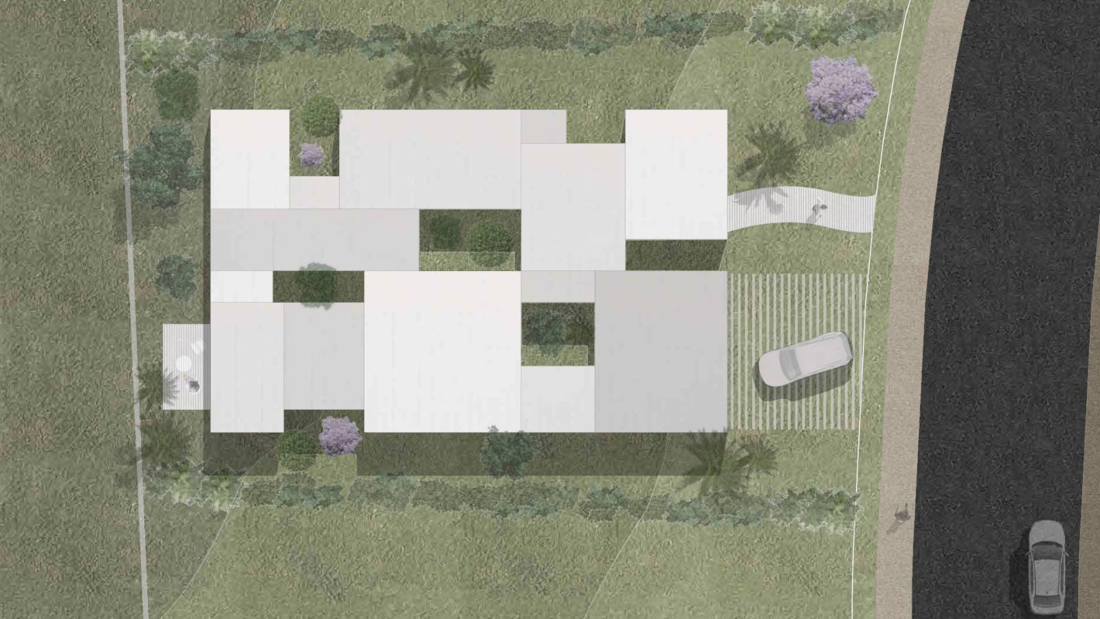 HOUSE #2 - ROOF PLAN - 6 case study houses - SPOL Architects