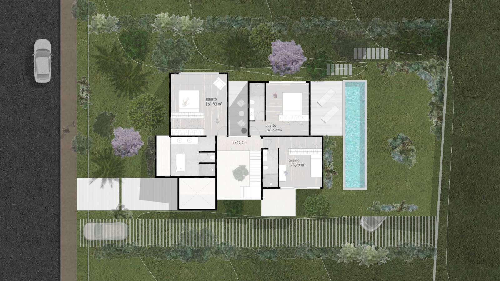 HOUSE #3 - LEVEL 3 PLAN - 6 case study houses - SPOL Architects