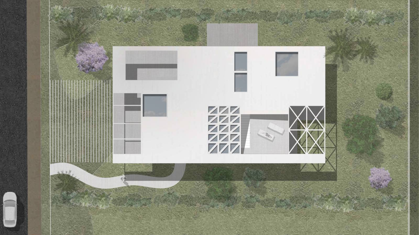 HOUSE #5 - ROOF PLAN - 6 case study houses - SPOL Architects