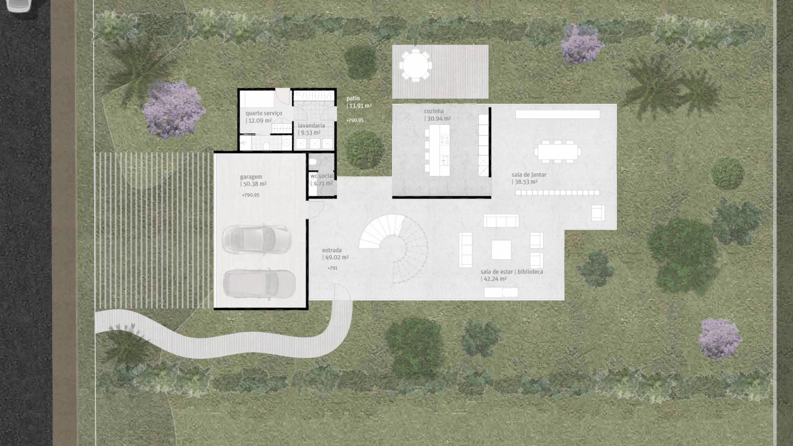 HOUSE #5 - LEVEL 1 PLAN - 6 case study houses - SPOL Architects