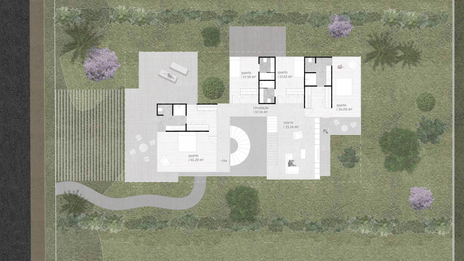HOUSE #5 - LEVEL 2 PLAN - 6 case study houses - SPOL Architects