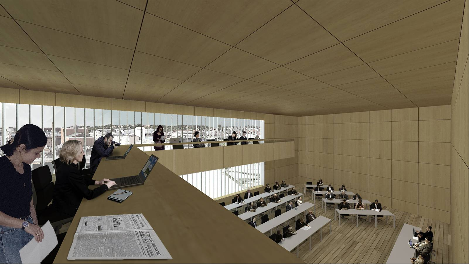 INSIDE CITY COUNCIL HALL - Sandnes Town Hall - SPOL Architects