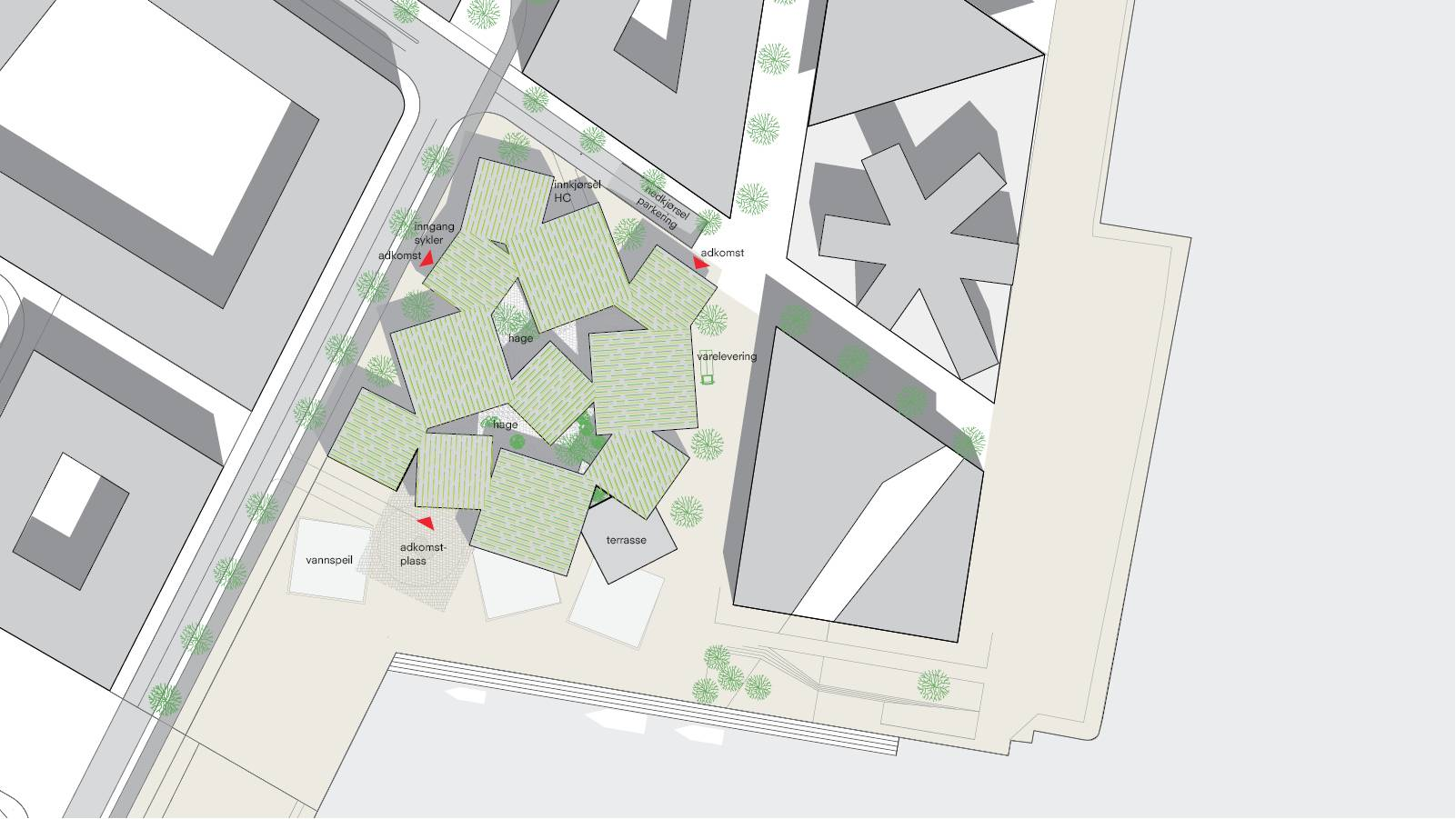 SITE PLAN - Sandnes Town Hall - SPOL Architects