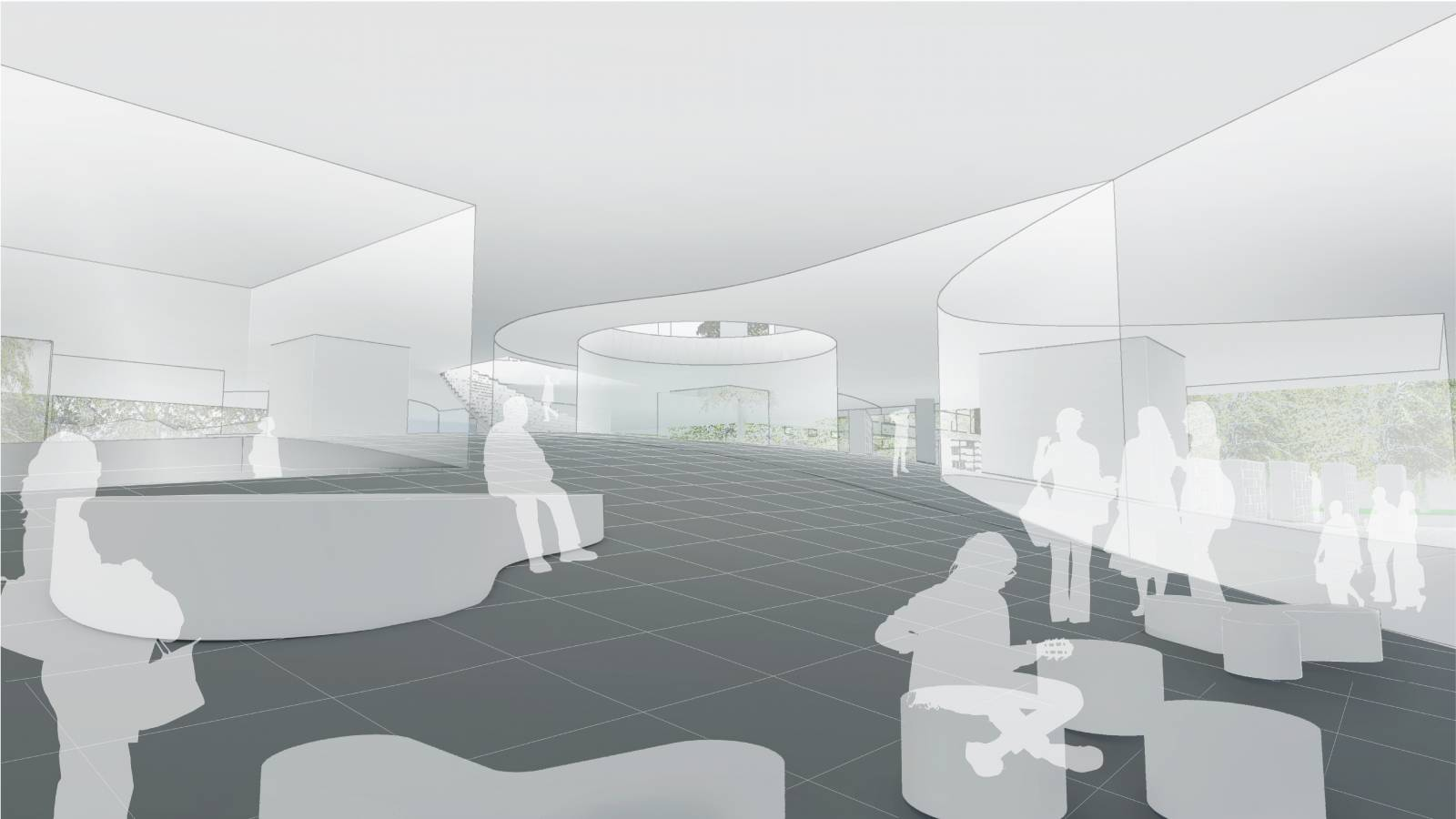 INTERIOR PERSPECTIVE 02 - NEW AARCH – FLYING CARPET - SPOL Architects
