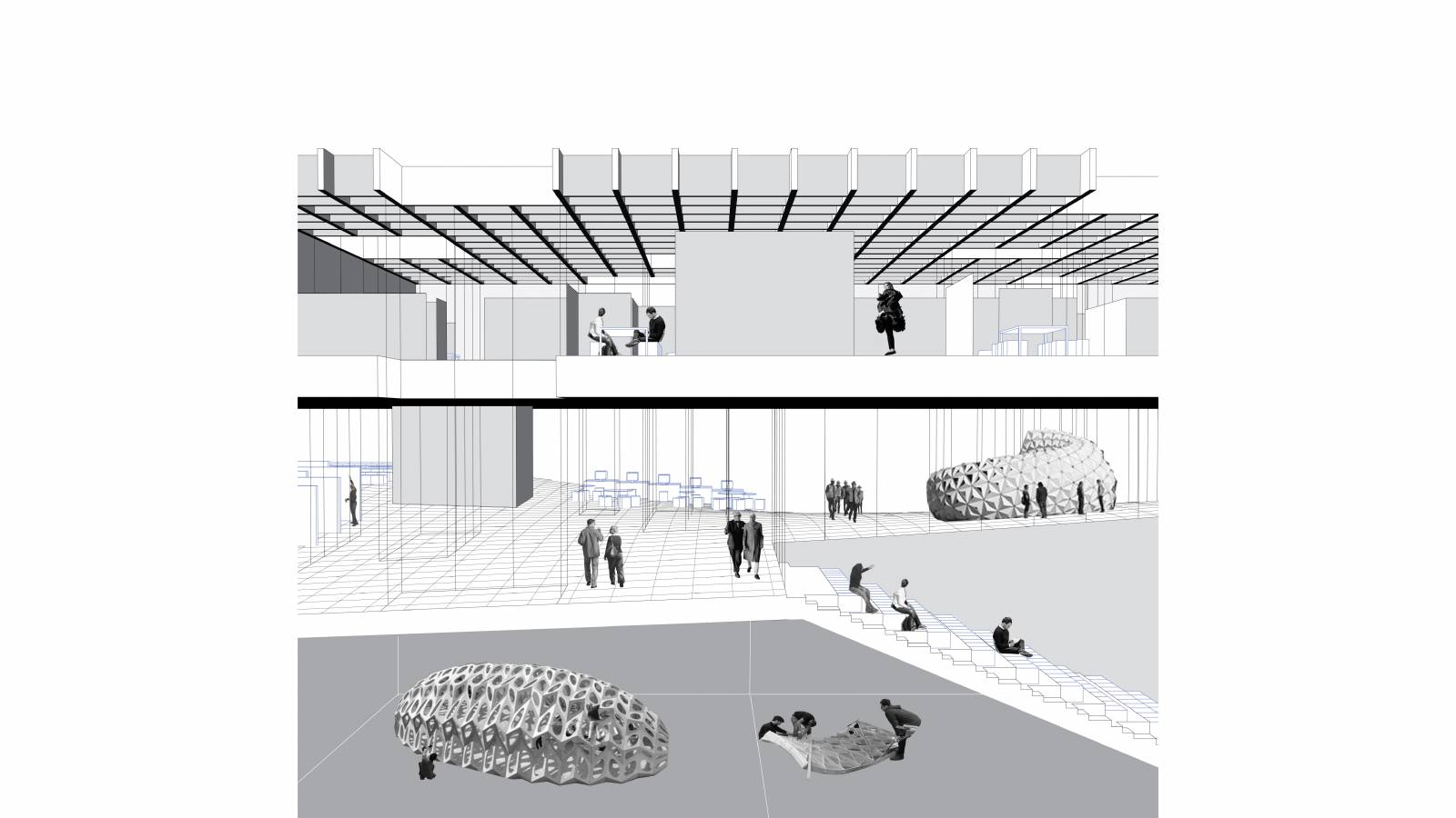 INTERIOR PERSPECTIVE 01 - NEW AARCH – FLYING CARPET - SPOL Architects