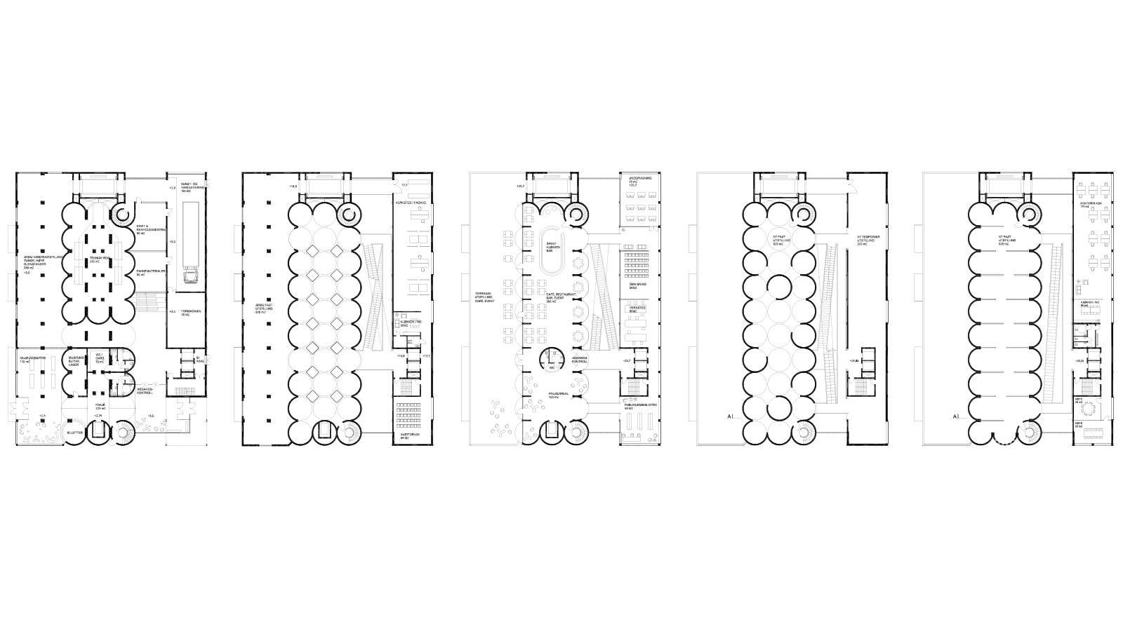 FLOOR PLAN 1, 2, 4, 5 AND 7 - Kunstsilo - SPOL Architects
