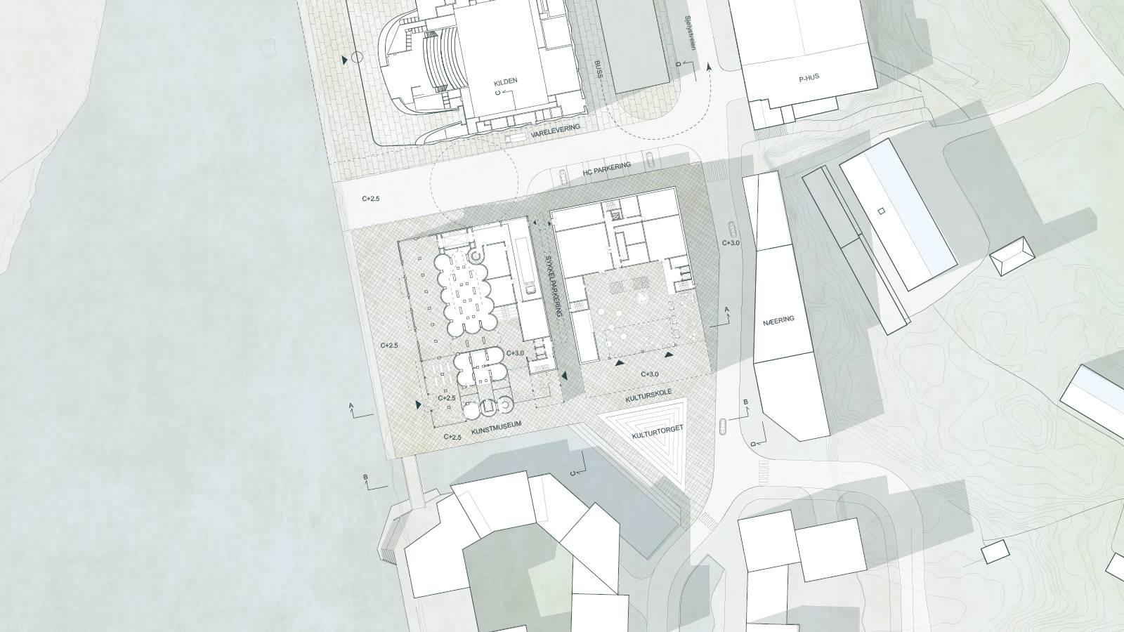 SITE PLAN - Kunstsilo - SPOL Architects