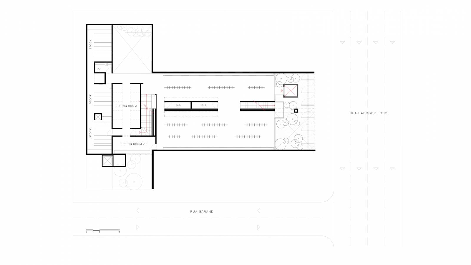 FIRST FLOOR PLAN - NK Store - SPOL Architects