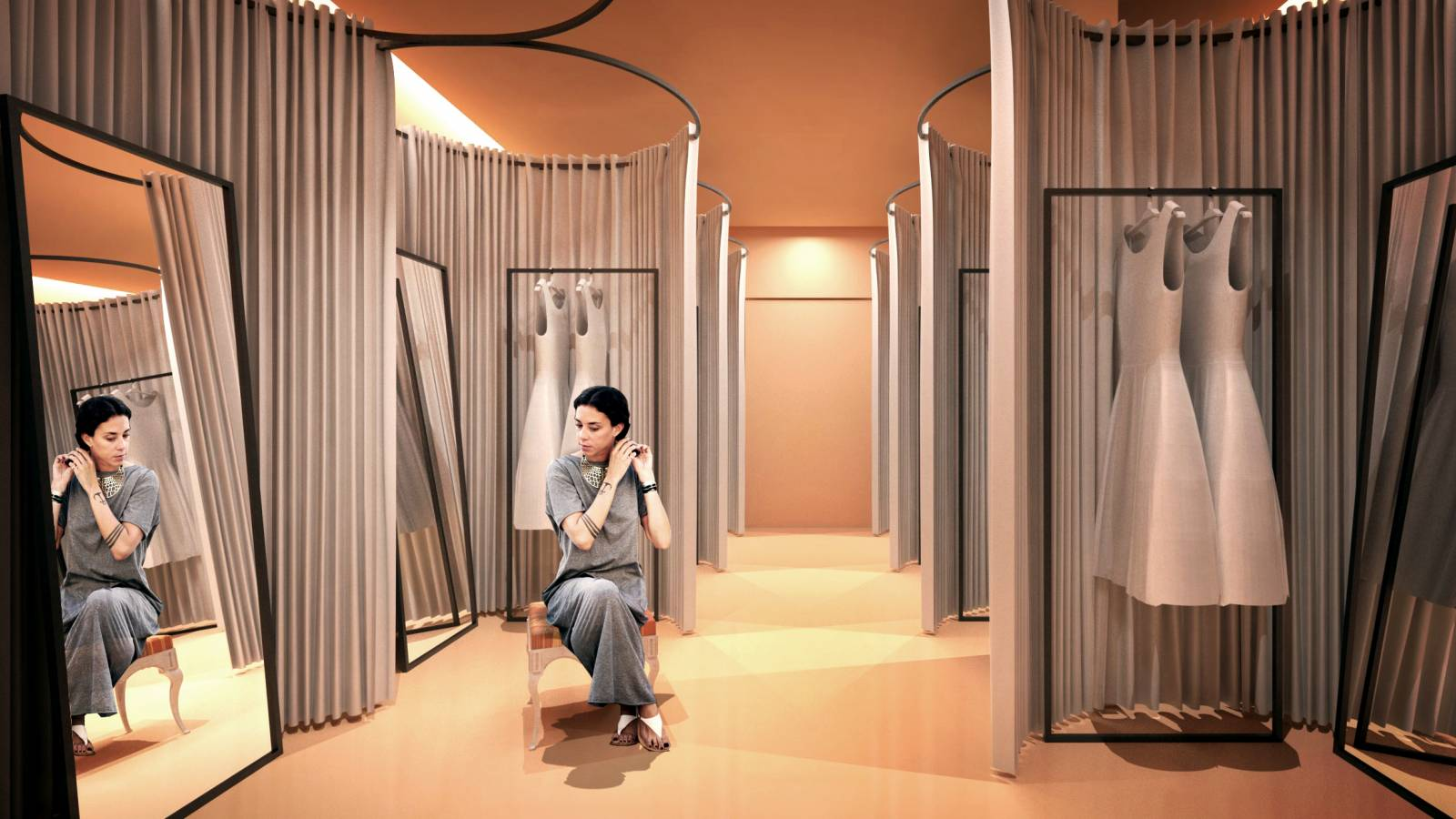 FITTING ROOMS - NK Store - SPOL Architects