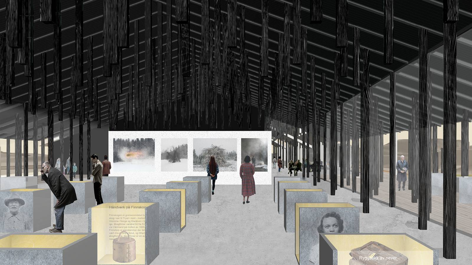 EXHIBITION SPACE - Skogfinsk Museum - SPOL Architects