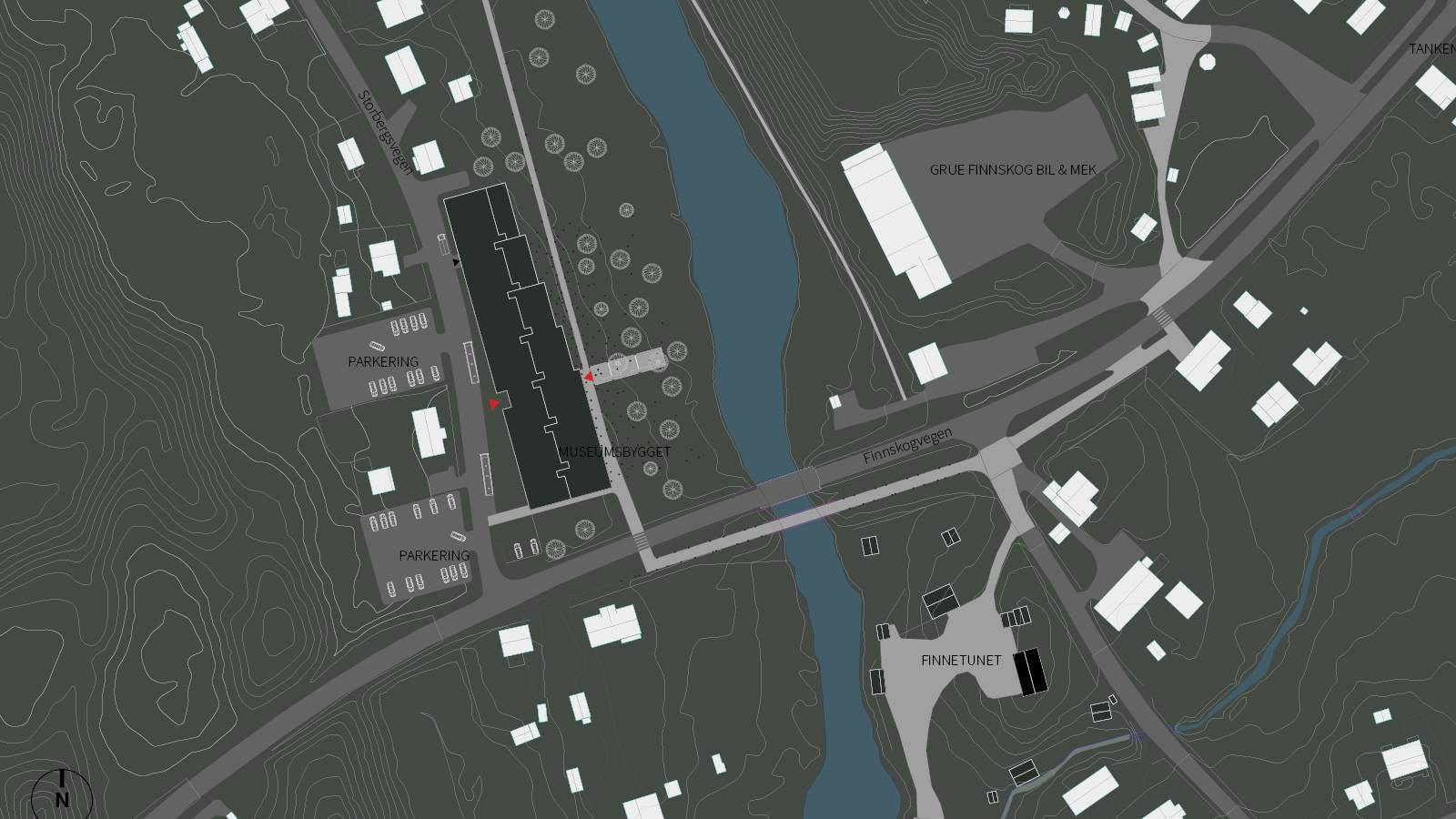 SITE PLAN - Skogfinsk Museum - SPOL Architects