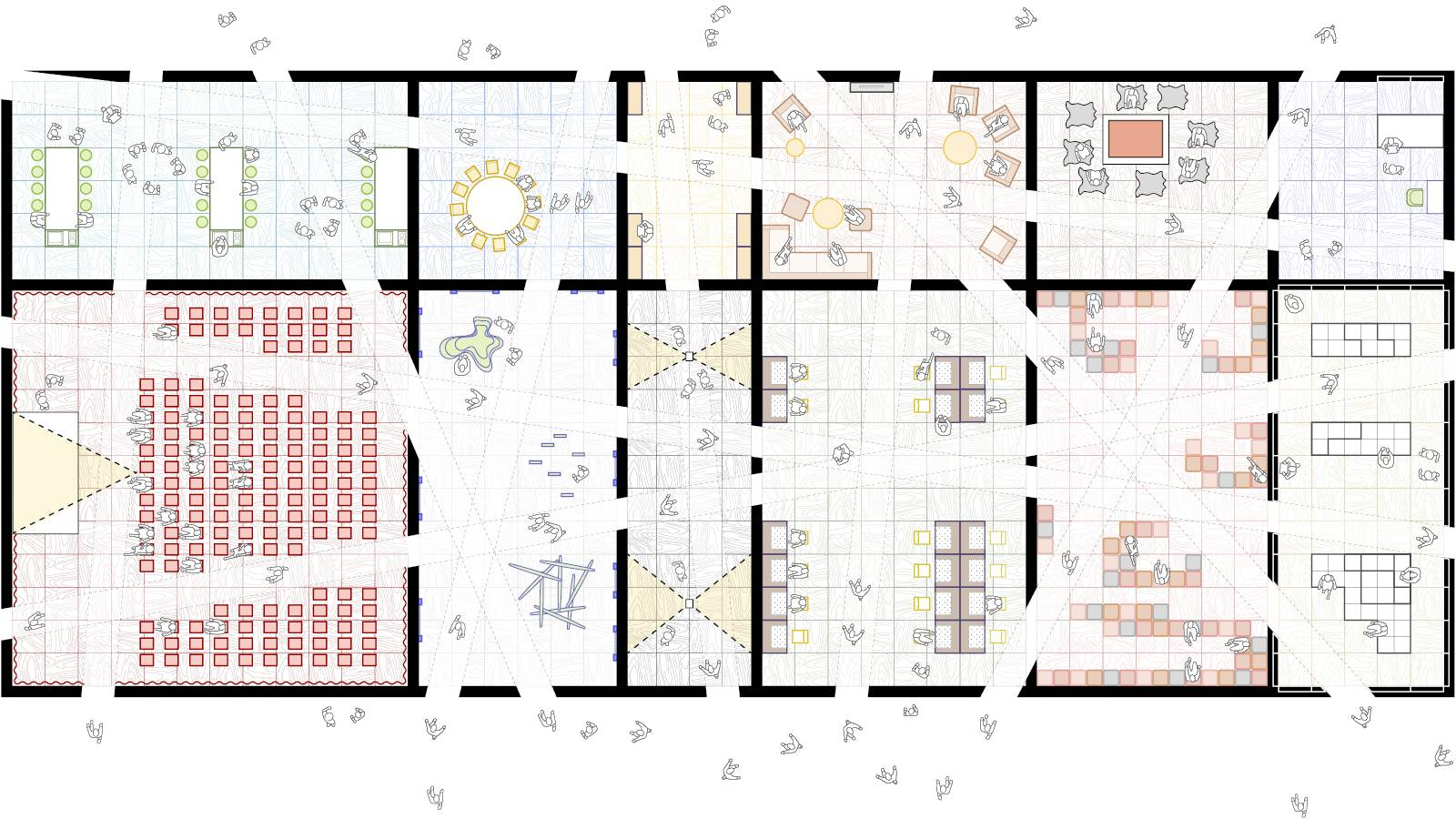 PAVILION PLAN WITH CUTS - Frankfurt Book Fair Pavilion - SPOL Architects