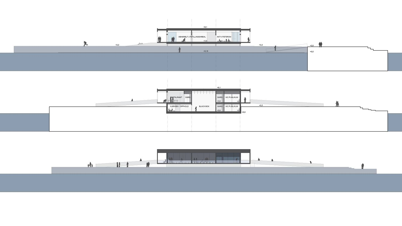 CROSS SECTIONS AND ELEVATION - Sukkerbiten Photo gallery - SPOL Architects