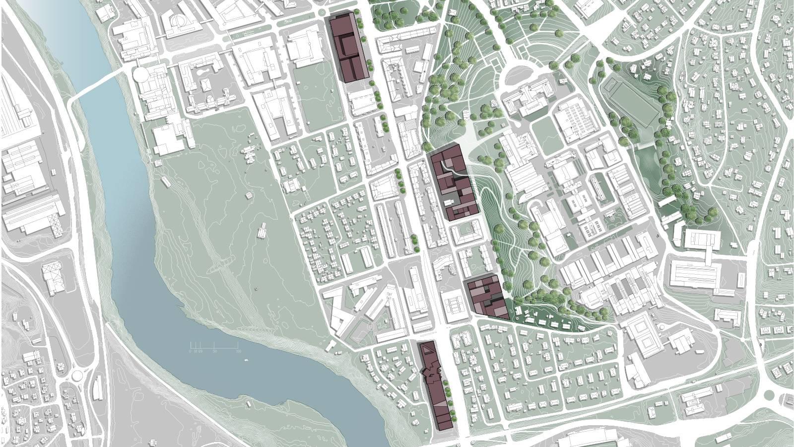 SITE PLAN - NTNU – More Park, More City! - SPOL Architects