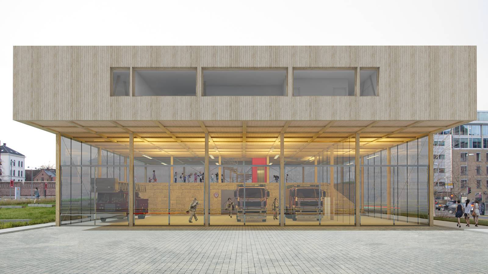 FRONT VIEW FROM THE HARBOUR - Oslo Fire Station - SPOL Architects