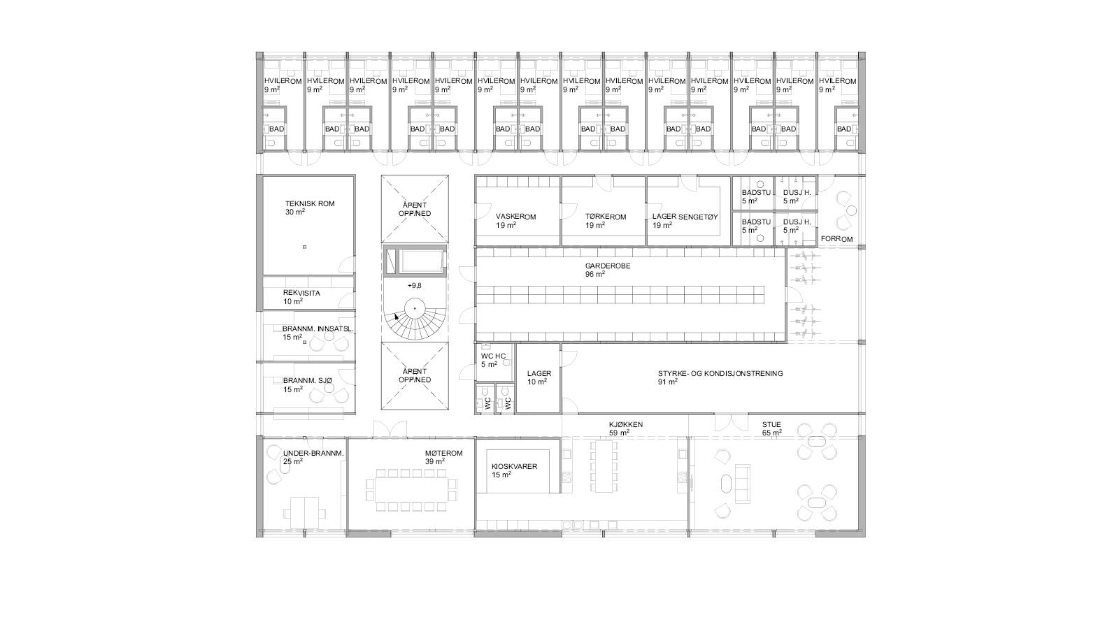 2ND FLOOR PLAN - Oslo Fire Station - SPOL Architects