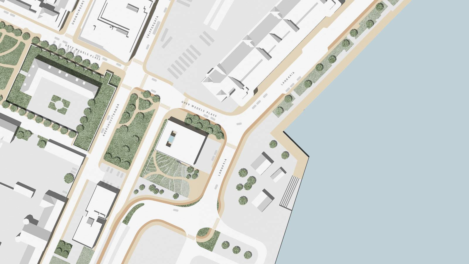 SITE WITH ROOF PLAN - Oslo Fire Station - SPOL Architects